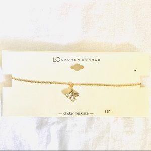 LC Lauren Conrad Marquise Teardrop Choker Necklace